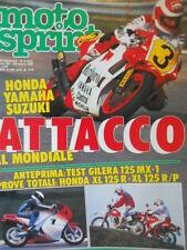 Motosprint 9 1988 Test Gilera 125 MX-1 - Honda XL 125R - ATTACCO AL MONDIALE