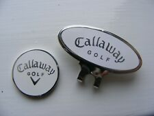 White Callaway Magnetic ball marker with Cap clip