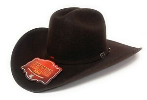 MEN'S BROWN WESTERN COWBOY RODEO HAT, WESTERN FELT HAT SOMBRERO TEXANA VAQUERA
