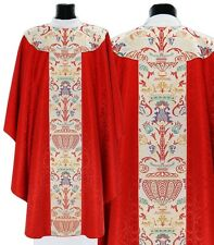 Red Gothic Chasuble with stole GT115-C25 Casulla Roja Casula Rossa Rot Kasel