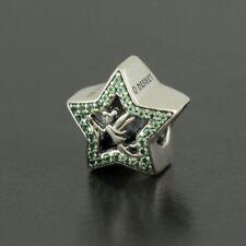 Authentic Pandora Charm Disney, Tinker Bell Star Charm, Green CZ 791920NPG