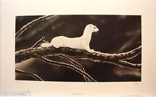 "Randy FEHR ""Low Brush Hunter"" LTD art print mint condition Weasel COA Ermine"