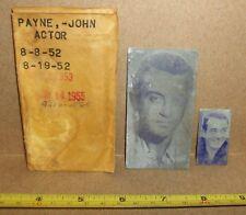 John Payne Newspaper Printing Plate 1958 Actor Movies Television