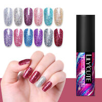 LILYCUTE Sequins Gel Polish  Shimmer Soak Off Nail Art UV Gel Varnish