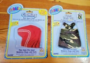 Ganz Webkinz Clothing Lot of 2 Red Sport Pants Camo Tank Top Sealed NEW Lot A