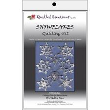 Snowflakes Quilling Kit includes Designs, Paper