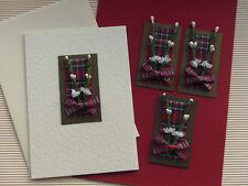 SCOTTISH HEATHER & TARTAN HANDMADE CARD TOPPERS