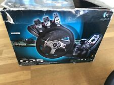 Logitech G25 Steering Wheel, Gear Shifter, Three Pedals - PC, PS3