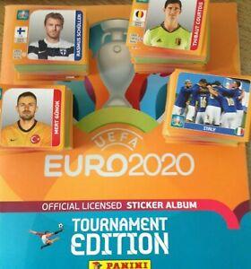 PANINI UEFA Euro 2020 TOURNAMENT EDITION Stickers Pick 1, 5, 10, 25, 50, 100 LOT