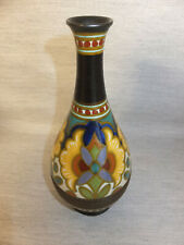 VASE SOLIFLORE EN CERAMIQUE ART DECO GOUDA HOLLANDE