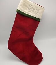 """Dark Red Velvet Stocking Personalized Name Carly 19"""" Embroidered"""