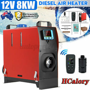 🔥HCalory 8KW 12V All IN 1 Diesel Air Heater LCD Monitor For Caravan Motorhome