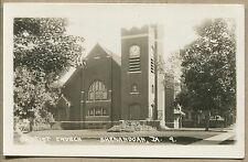 SHENANDOAH, IA VINTAGE PHOTO POSTCARD RPPC - Baptist Church