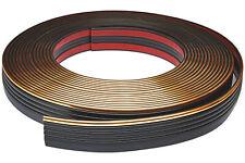 Zierleiste 55mm breit | schwarz gold | flexibel selbstklebend | Meterware