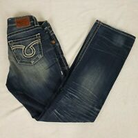 BIG STAR MIKI WOMEN'S JEANS SIZE 26R DISTRESSED BOOT CUT 28 X 30 Measured