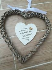 Auntie Aunty Great Aunt Shabby personalised Chic EXTRA LARGE Willow heart Gift