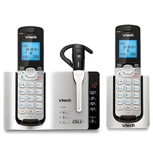 VTech DS6671-3 DECT 6.0 Expandable Cordless Phone with Bluetooth Connect to Cel