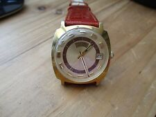vintage benrus mechanical, used mens watch, running  new strap, rare
