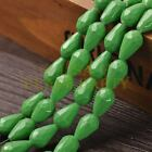 New Arrival 10pcs 16X10mm Faceted Teardrop Loose Spacer Glass Beads Green