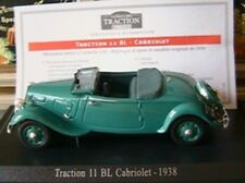 CITROEN TRACTION 11 BL CABRIOLET 1938 UNIVERSAL HOBBIES 1/43 EDITIONS ATLAS