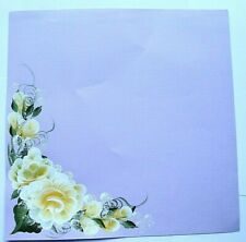 Yellow Rose's Scrapbook Page Creative PreMade Hand painted Scrapbooking