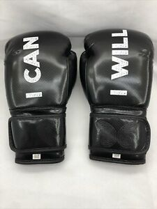"""Beyond Clothing Co """"I Can I Will Watch Me"""" 12oz Women's Boxing Gloves Black"""