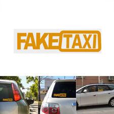 2x FAKE TAXI Car Sticker FakeTaxi Decal Emblem Self Adhesive Vinyl for Car VAN