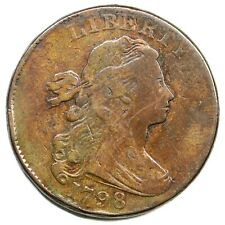 1798 S-171 R-4 Draped Bust Large Cent Coin 1c