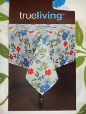 52x70 Oblong~Fabric Tablecloth~Tropical Floral Flower Leaves ~New w/Tags