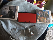 Nintendo 3DS XL Red With Charger Batman Black Gate Monster Hunter 4 FREE POST