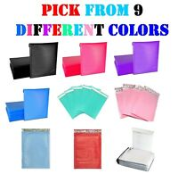 #0 6x10 Colored Poly Bubble Mailers Padded Envelopes Shipping Bags Mailing 6x9