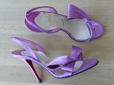 Christian Louboutin Sandaletten high heels Gr.EU 39 Echtleder getragen Italy