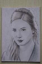 DR WHO 11TH AMY POND (KAREN GILLAN) COMMISSIONED SKETCH CARD BY Wu Wei -2011