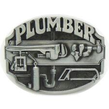Vintage Plumber Belt Buckle Western Cowboy Native American (PLMR-01)