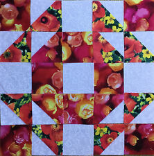 16 Die cut single wedding Ring Quilt block kits Ready to Sew # 0414