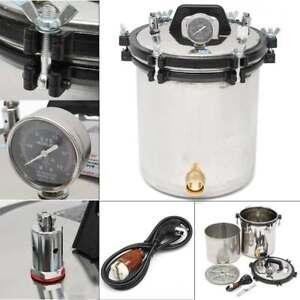 Dental 24L High Pressure Steam Autoclave Sterilizer Pot Medical Lab Machine