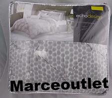 Echo Design Dotkat QUEEN 4 Piece Comforter, Shams & Skirt Set Gray