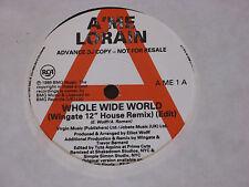 "A'me Lorain – Whole Wide World    PROMO  7""   EX SHOP"
