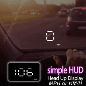 Car HUD Head Up Display MPH/KM/h Speed Limit Warning Projector