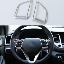 Matte Chrome Steering Wheel Trim cover 2pcs for Hyundai Tucson 2016 2017 2018