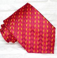 Cravate de luxe rouge TOP Quality NOUVEAU Made in Italy 100%soie marque TRE