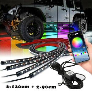 LED RGB Auto Unterbodenbeleuchtung Underglow Körper Atmosphäre Lichtleiste App