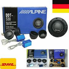 2x Alpine Hochtöner Auto 4 Ohm Lautsprecher Tweeter Dome Frequenzweichen 1 Paar