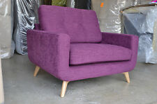 Barbican Snuggler Armchair Senna Cassis Pink Purple RRP £899 New Warranty