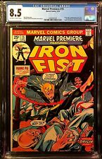 Marvel Premiere #15 May 1974 CGC VF+ 8.5 OW/WHITE 1st app Iron Fist