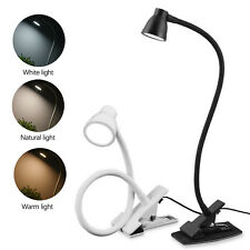 1pc LED Clip-on Piano Music Stand Reading Light Bed Table Desk Lamp Black/white
