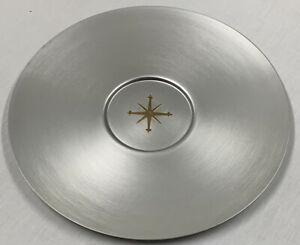 Mirro Medallion Round Aluminum Platter Tray MADE IN USA 17""