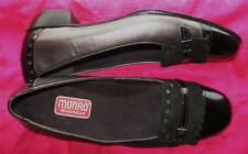 MUNRO SHOES BLACK LEATHER/SUEDE W BUCKLES FLATS ! S 6/36 M !MADE IN USA !