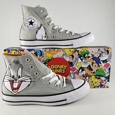 Bugs Bunny Converse CTAS X Looney Toons Womens SZ 6 Mens 4 Shoes Gray Cartoon