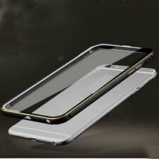 For iPhone 5s 6 6S Ultra-Thin Aluminum Metal Back Clear Case Cover Bumper SKin